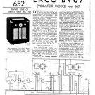 Ekco B67 B-67Technical Repair Schematics etc