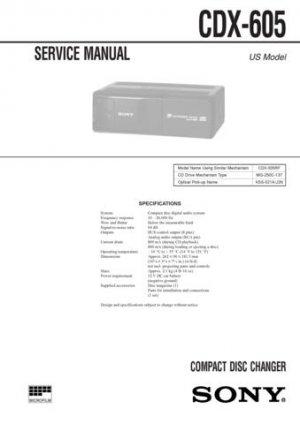 Sony CDX605 CDX-605 Service Manual