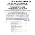 Military AM6880 AM-6880 U Calibration Procedure