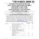 Tektronix 7A26 Calibration Procedure
