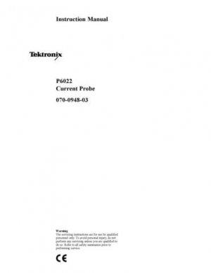 Tektronix P6022 P-6022 Service Manual