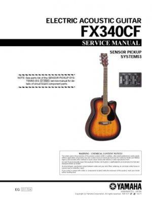 Yamaha FX310CS FX-310CS Service Manual