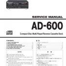 Teac AD600 AD-600 Service Manual