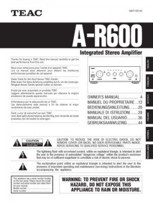 teac ar600 a r600 ar 600 operating guide 2 rh mauritron5 ecrater com Example User Guide Example User Guide
