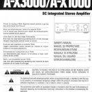 Teac AX3000 A-X3000 AX-3000 Operating Guide