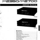 Yamaha P2700 P-2700 Service Manual