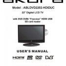 Akura ABLDVD2202-HDIDUC Television Operating Guide
