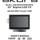 Akura ABLDVD3230W-HDID  Television Operating Guide