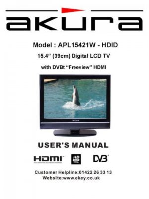 Akura APL15421W-HDID Television Operating Guide