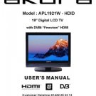 Akura APL1921W-HDID Television Operating Guide