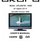 Akura APL2021W-HDID Television Operating Guide