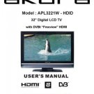 Akura APL3221W-HDID Television Operating Guide