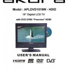 Akura APLDVD1519W-HDID-IB Television Operating Guide