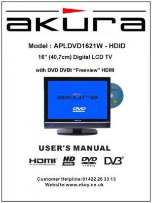 Akura APLDVD1621W-HDID Television Operating Guide
