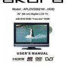 Akura APLDVD2621W-HDID Television Operating Guide