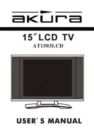 Akura AT1503LCD Television Operating Guide