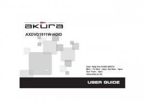 Akura AXDVD1911W-HDID Television Operating Guide