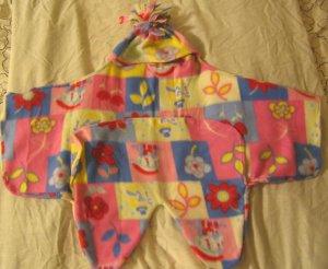 Unique Fleece Baby Wrap Blanket Flower pattern
