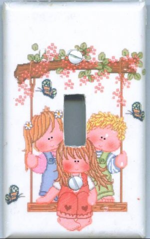 Children Swinging Light Switch Cover