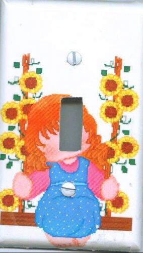 Little Girl Swinging Light Switch Cover