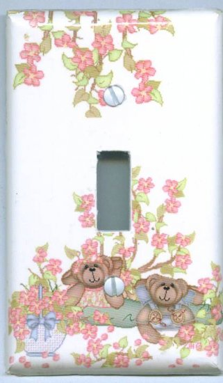 Bears and Flowers Light Switch Cover