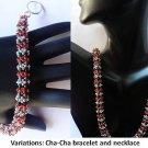 Handmade Beaded Cha-Cha Bangle & Necklace