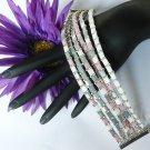 1- Handmade Beaded Six Pack Bracelet