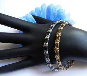2- Handmade Beaded Simon Bangle