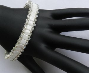 1- Handmade Beaded Antique Lace Bangle