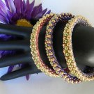 1- Handmade Beaded Oyster Bangle