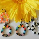 1- Pair Handmade Beaded Twin Bead Earrings