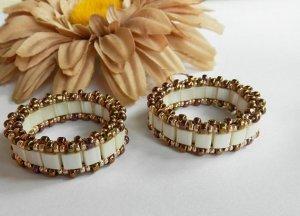 1- Set Handmade Beaded Victorian Lace Earrings