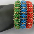 1- Handmade Beaded Triple Stack Bracelet