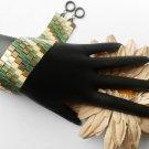 1- Handmade Beaded Tila Stripes Bracelet