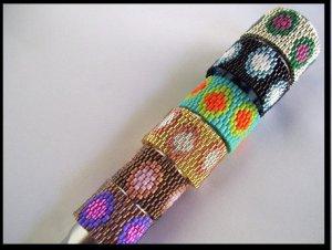 1- Handmade Beaded Dots and Spots Ring