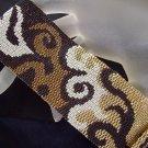 Handmade Beaded Metallic Flames Peyote Bracelet