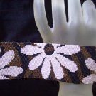 Handmade Crazy Daisy Peyote Bracelet Cuff