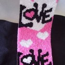 Handmade Love Peyote Cuff Bracelet