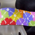 Handmade Beaded Rosemary's Garden 2 Peyote Bracelet Cuff