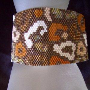 Handmade Beaded Out Of Africa Peyote Bracelet Cuff
