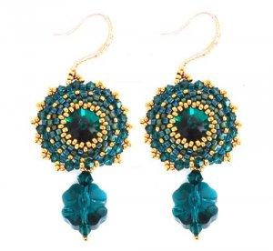 Handmade Beaded Lucky Clover Earrings
