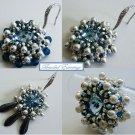 Handmade Beaded Timeless Blue Topaz Earrings