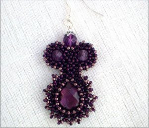 Handmade Beaded La Mona Earrings