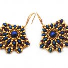 Handmade Beaded Ladies Fan Earrings- any color
