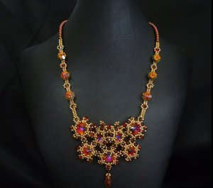 Handmade Beaded Madame Butterfly Necklace
