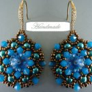 Handmade Beaded Mandala Earrings