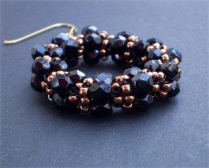 Handmade Beaded Preciosa Earrings
