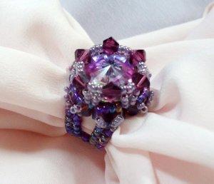 Handmade Beaded Cher Ring