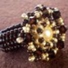 Handmade Beaded Mocca Ring