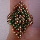 Handmade Beaded Diamond Shaped Ring